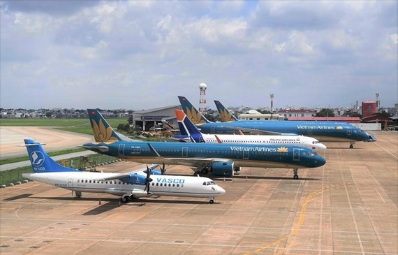 Planes of carriers of the Vietnam Airlines Group (Photo: VNA)