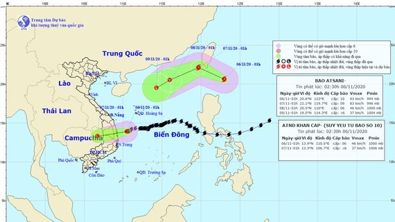 New storm Atsani forms in the northeast of Philippines as of this early morning