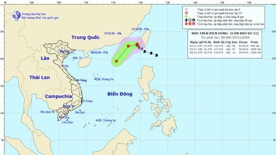 A path map of storm Atsani