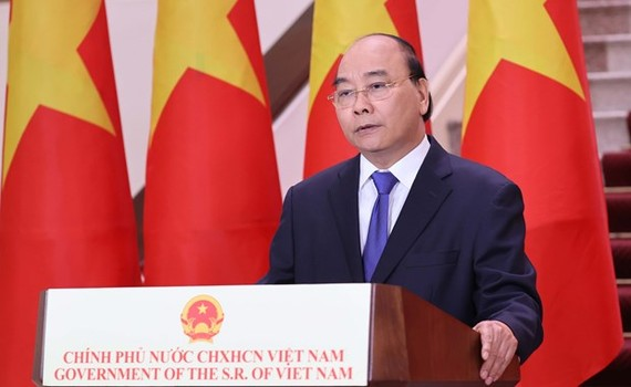 Prime Minister Nguyen Xuan Phuc in the video message to the 17th China-ASEAN Expo and China-ASEAN Business and Investment Summit (Photo: VNA)