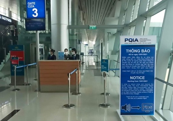 Phu Quoc airport stops broadcasting flight information on radio from January 20