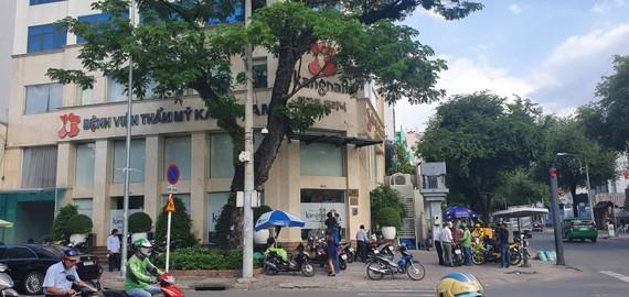 Bệnh viện thẩm mỹ Kangnam, nơi xảy ra vụ người phụ nữ tử vong khi căng da mặt  Ảnh: THÀNH SƠN