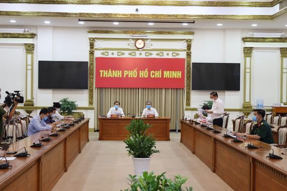 Toàn cảnh cuộc họp. Ảnh: Trung tâm báo chí TPHCM