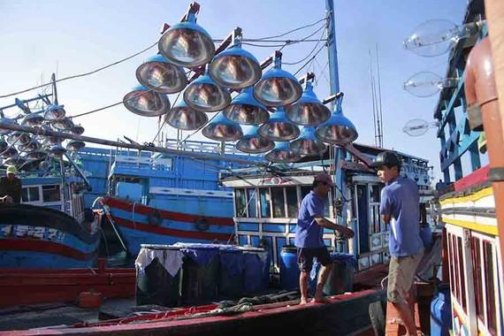 Tàu thuyền Quảng Ngãi về bến