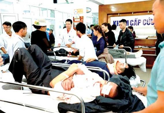 Bệnh viện quá tải bệnh nhân khiến mất an ninh trật tự
