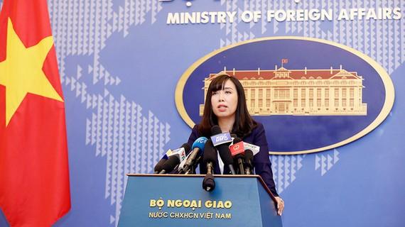 Người Phát ngôn Bộ Ngoại giao Việt Nam Lê Thị Thu Hằng. Ảnh: VTV