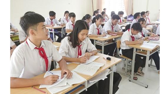 Học sinh ở Côn Đảo trong giờ học. Ảnh: Báo BR-VT