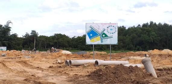 Dự án chưa hoàn tất thủ tục pháp lý đang rao bán (ấp Thanh Bình, xã Lộc An, huyện Long Thành). Ảnh: NÔNG NGÂN