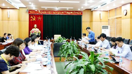 Tổ công tác của Thủ tướng kiểm tra hoạt động công vụ tại Bộ VH-TT-DL, tháng 7-2019. Ảnh: TUẤN THANH