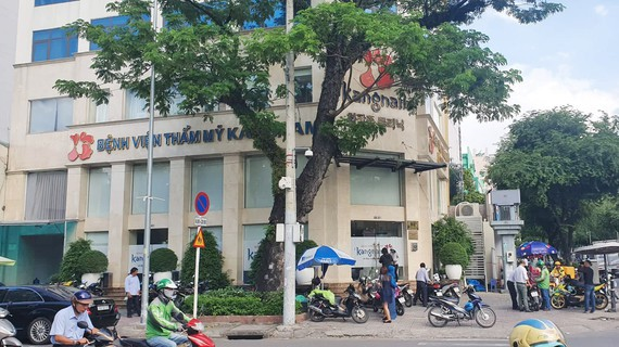 Một nữ Việt kiều Mỹ đã tử vong sau khi căng da mặt tại Bệnh viện Thẩm mỹ Kangnam, ở phường 9, quận 3, TPHCM. Ảnh: THÀNH SƠN