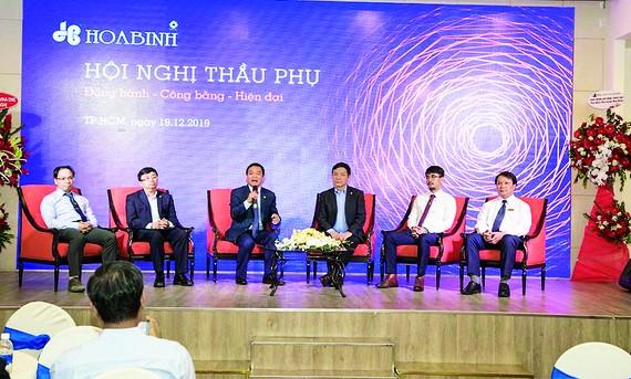 Tập đoàn Xây dựng Hòa Bình tổ chức Hội nghị Thầu phụ