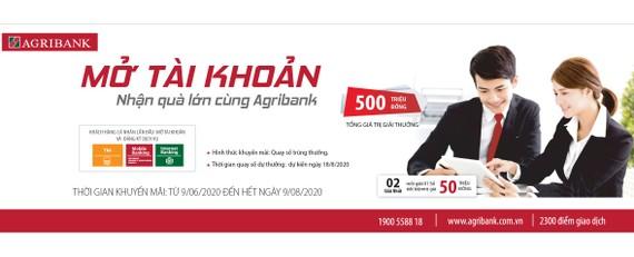 """""""Mở tài khoản  - Nhận quà lớn cùng Agribank"""""""