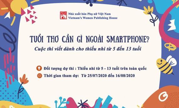 """Phát động cuộc thi viết """"Tuổi thơ em cần gì ngoài smartphone?"""""""