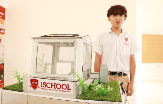 Em Phạm Nguyễn Gia Bảo, lớp 10A1, Trường iSchool Ninh Thuận đã xuất sắc giành giải Nhất cuộc thi Khoa học Sáng tạo cấp tỉnh