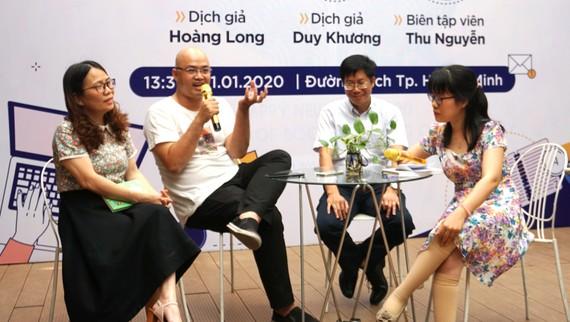 Giao lưu với các dịch giả trong một Talkshow tại Đường sách TPHCM