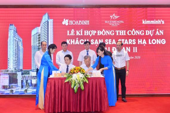 Lễ ký kết hợp đồng thi công dự án giữa 2 công ty