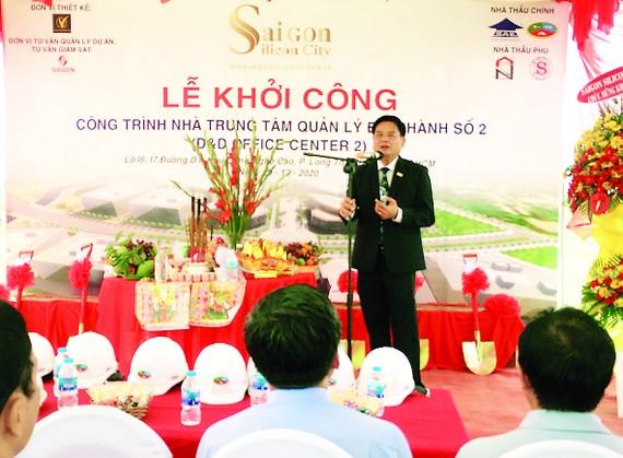 """SAIGON SILICON CITY (SSC) khởi công công trình: Nhà Trung tâm Quản lý Điều hành số 2 thuộc dự án """"Xây dựng và Phát triển Khu Công viên Sài Gòn Silicon"""""""