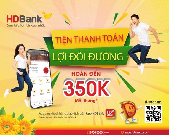 HDBank tri?n khai nhi?u ch??ng trình ?u ??i cho khách hàng s? d?ng app