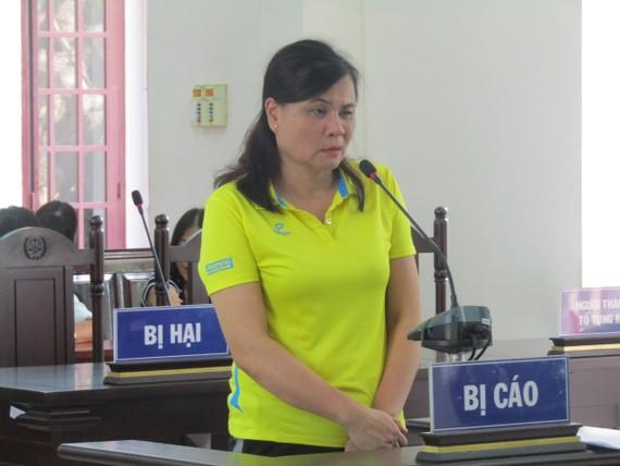 Bị cáo Nguyễn Thị Tú Anh tại phiên tòa