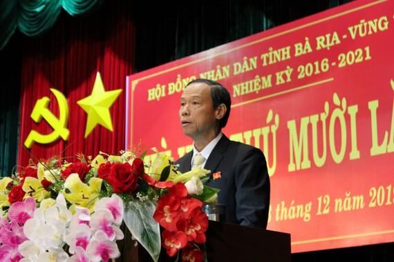 ảnh: Ông Nguyễn Văn Thọ phát biểu tại kỳ họp