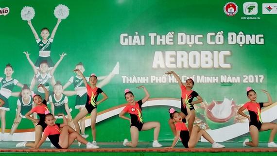 Một tiết mục thể dục cổ động aerobic