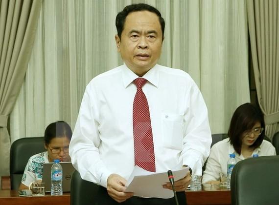 圖為越南祖國陣線中央委員會主席陳清敏。(圖源:越通社)