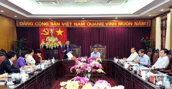 國會常務副主席從氏放與北件省領導在見面會上發表講話。