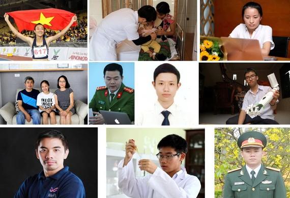 2017年越南年輕模範前10名候選人。(圖源:互聯網)