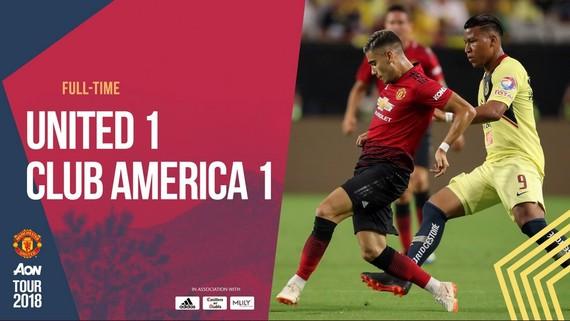 曼聯1-1墨西哥美洲。(圖源:互聯網)