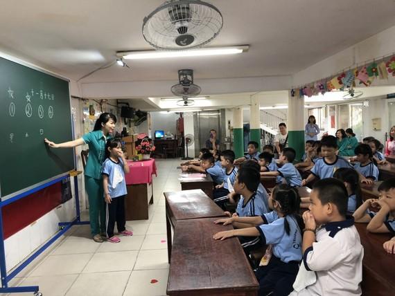 平泰小學舉辦的華語科模擬教學活動現場一瞥。