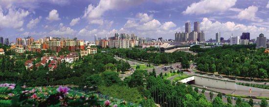風景如畫的中山城區。