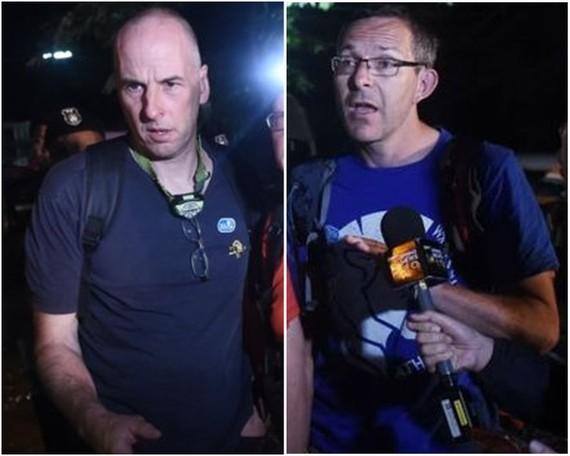 斯坦頓(左圖)和沃蘭頓(右圖)是今天7月泰國洞穴拯救行動中,率先發現「野豬」足球隊的蛙人,元旦將獲頒「喬治勳章」。(圖源:互聯網)