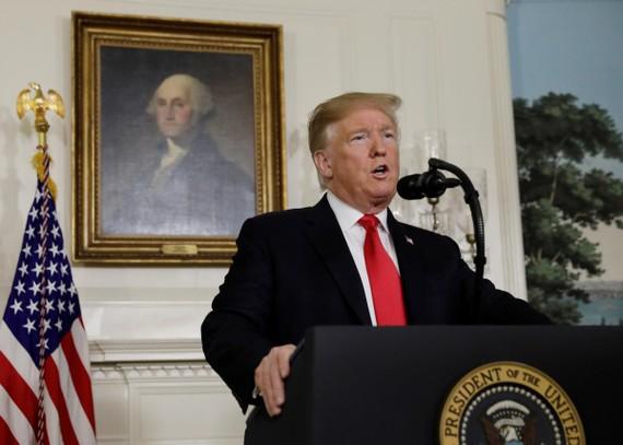 美國總統特朗普在白宮就美墨邊境的移民問題發表講話。(圖源:路透社)