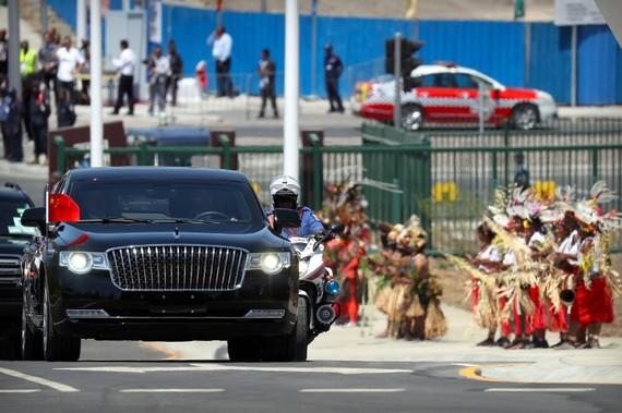 巴布亞新幾內亞政府購買瑪莎拉蒂豪華轎車接送各國領袖。(圖源:AFP)
