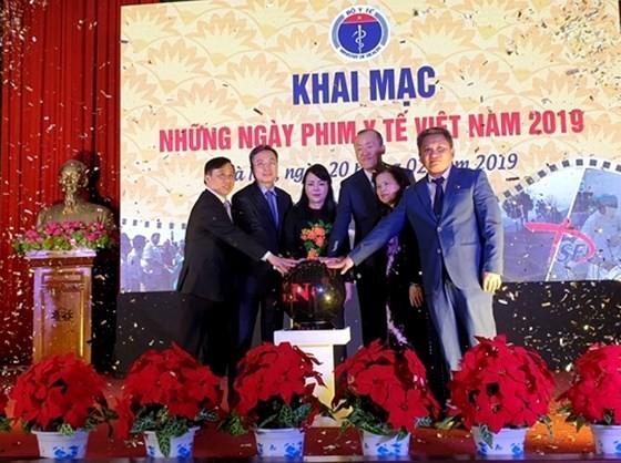 2019年越南醫療電影日開幕儀式一瞥。(圖源:阮國)