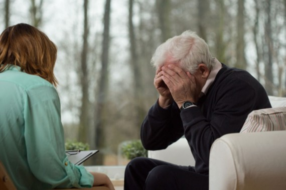 55歲以上老人需警惕抑鬱症。(示意圖源:互聯網)