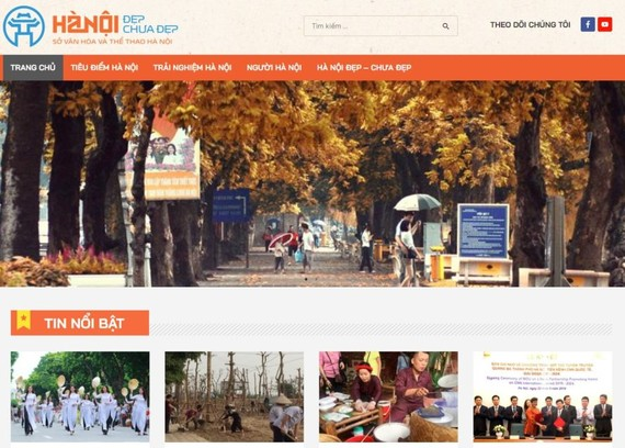 """""""Hanoidep.vn""""網站於昨(3)日上午正式開通。(圖源:網站截圖)"""