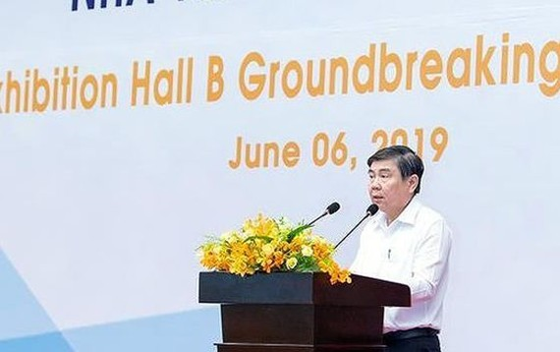 市人委會主席阮成鋒在動工儀式上致詞。(圖源:清元)