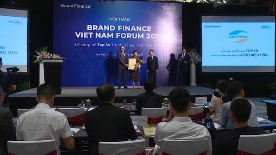 2019年越南50大品牌名單公佈儀式。(圖源:互聯網)