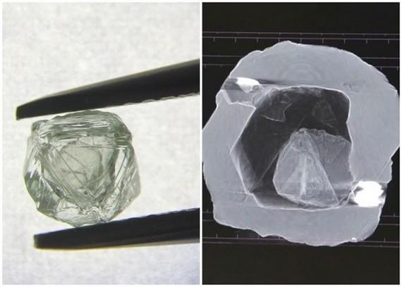 西伯利亞開採出極罕有的「鑽中鑽」。(圖源:互聯網)