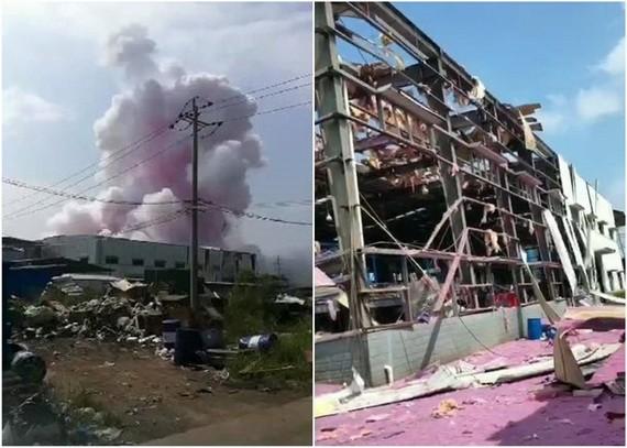 化工廠被炸毀。(圖源:互聯網)