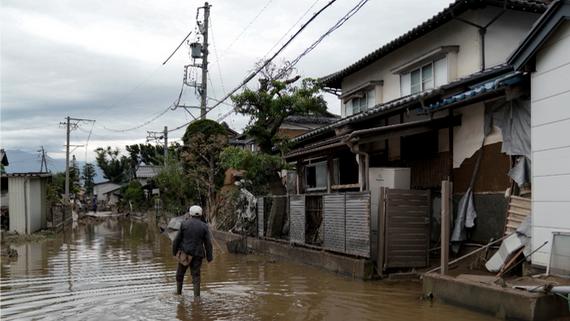 海貝思颱風侵襲日本,造成嚴重的災情。 (圖源:歐新社)