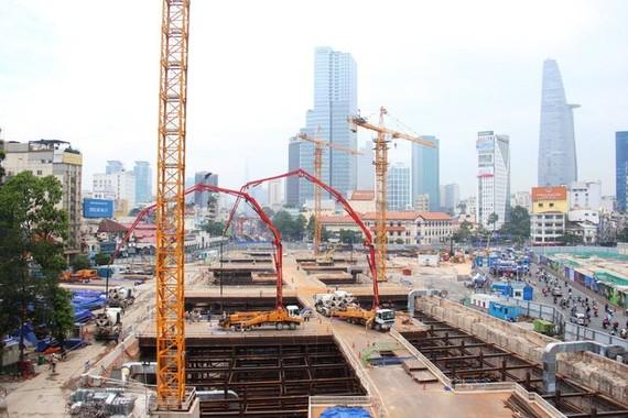 濱城-仙泉1號線地鐵工程加快施工進度。(圖源:交通報)
