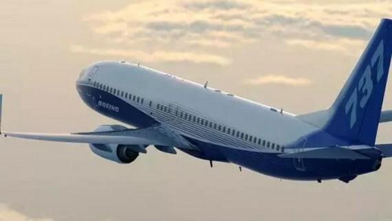 圖為美國波音737NG飛機飛行照片。(圖源:互聯網)