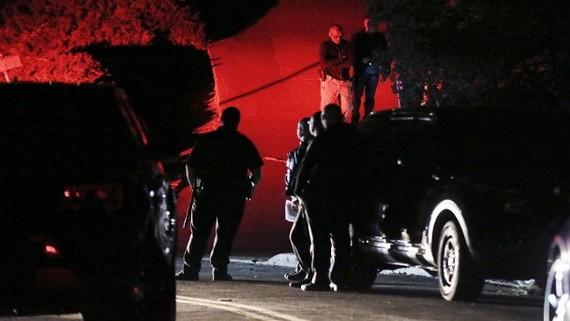 警員到場調查槍擊案。(圖源:AP)