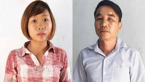涉嫌敲詐勒索犯罪的2名嫌疑人壬進勇(右)與鄭氏懷。(圖源:警方提供)