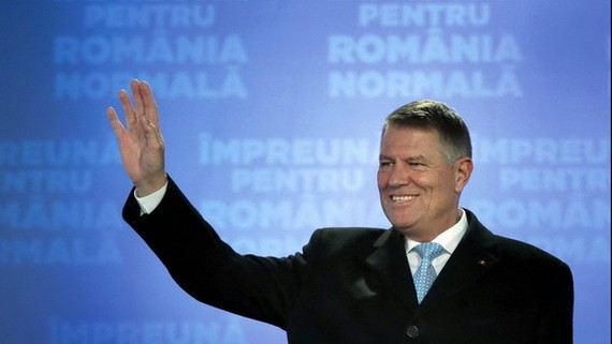 羅馬尼亞總統克勞斯‧約翰尼斯。(圖源:EPA)
