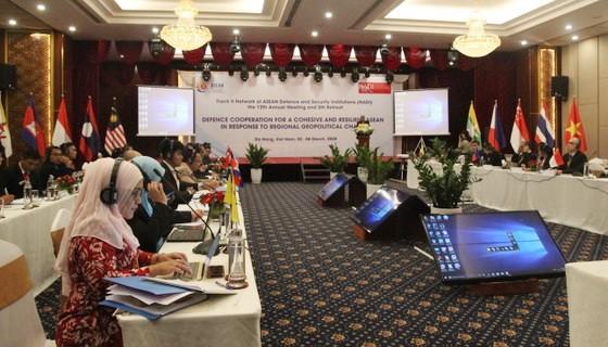 東盟國防與安全研究院二軌網絡(NADI)第十三次年度會議現場。(圖源:阮強)