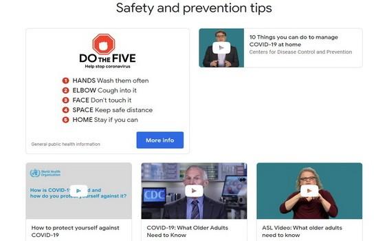 谷歌公司開設了一個關於新型冠狀病毒的網站,其中包含了目前正在全世界蔓延的新冠病毒的權威信息。(圖源:網站截圖)
