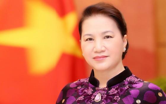 國會主席阮氏金銀。(圖源:越通社)
